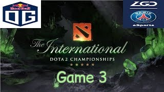 [ EN ] OG vs LGD - Game 3 - UB Final - TI 8 - Highlights