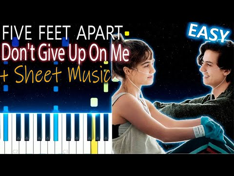 Don't Give Up On Me - Andy Grammer - Piano Tutorial - Five Feet Apart (A Dos Metros De Ti) Cover