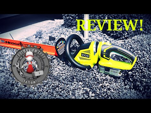 Ryobi 18 Volt Cordless Hedge Trimmer Review. With Hedge Sweep! (P2660)
