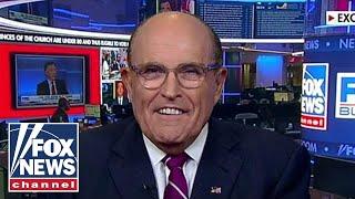 Giuliani rips 'corrupt' media, defends Trump's calls for Biden probe