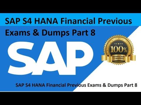 8 SAP S4 HANA Financial Previous Exams & Dumps Part 8 - YouTube
