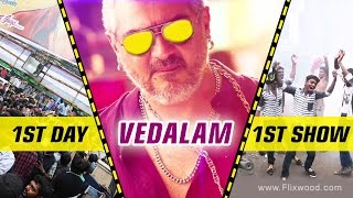 Vedhalam | First Day First Show Celebration | Flixwood