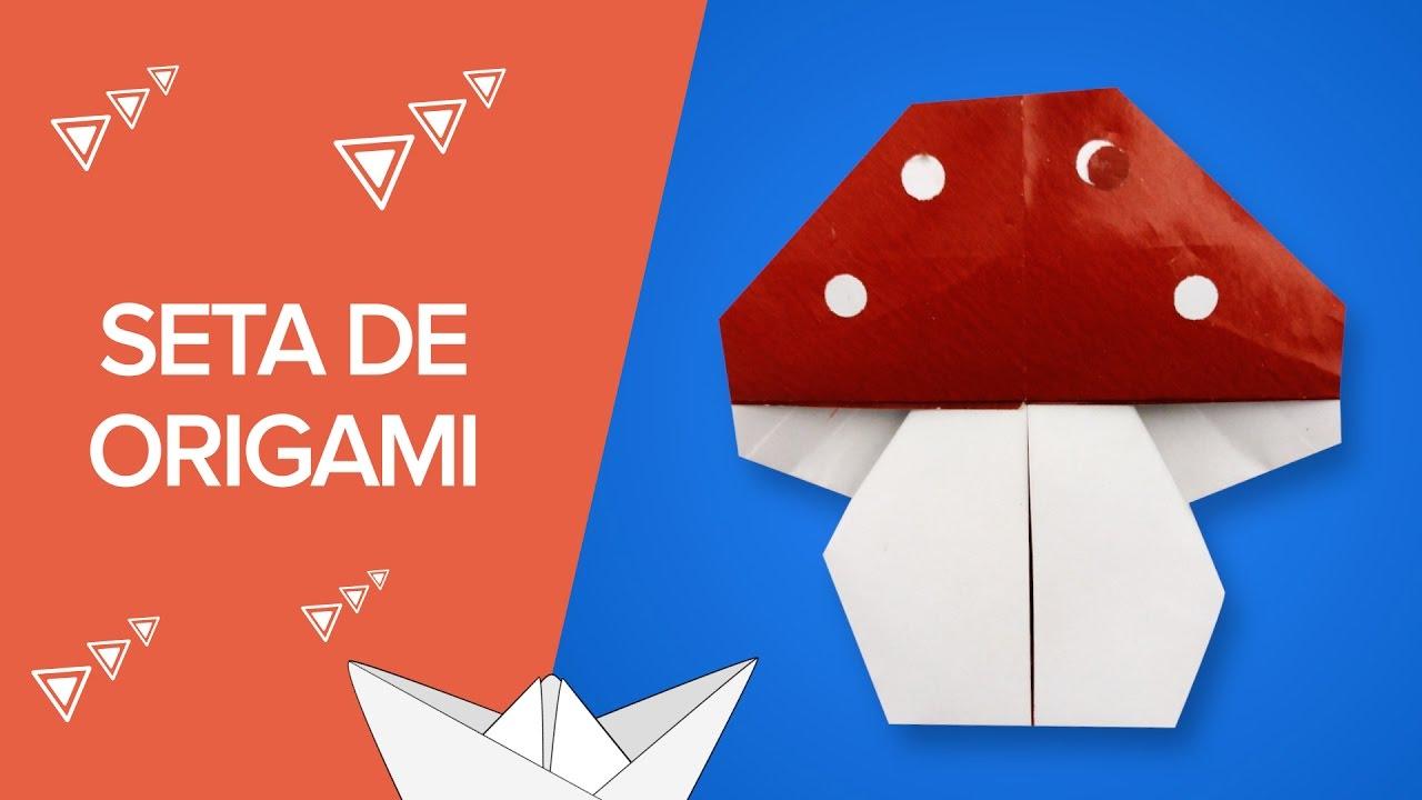 Seta de origami | Papiroflexia para niños