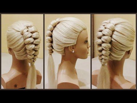 Красивые косы.Голландская коса.Lessons of hairstyles. The Dutch Spit