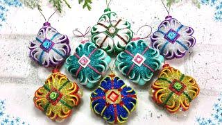 🎄 Новогодние игрушки своими руками из фоамирана🎄 Diy Christmas Ornaments