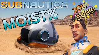 Beating subnautica with only 15s in water!? Creative Moist%