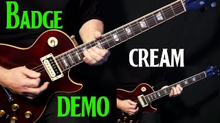 "how to play ""Badge"" on guitar by Cream 