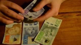 ASMR Swedish Currency [SEK] New Paper Money - Show & Whisper