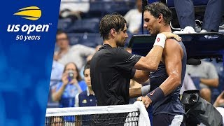 Rafael Nadal And David Ferrer Battle in Arthur Ashe Stadium