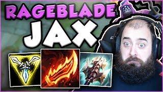 THIS RAGEBLADE JAX BUILD IS LITERALLY UNSTOPPABLE! RAGEBLADE JAX TOP GAMEPLAY! - League of Legends