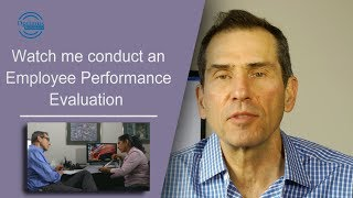 Demonstration of employee performance evaluation