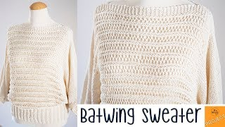Batwing Sweater Free Knitting Pattern (3 Sizes) - So Woolly