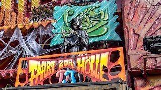 Fart Hole Dark Ride Complete POV! Oktoberfest Germany   Traveling Fair Haunted House Attraction