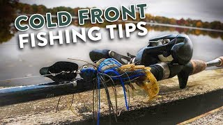 How to Catch MORE Bass During COLD FRONT Fishing Conditions