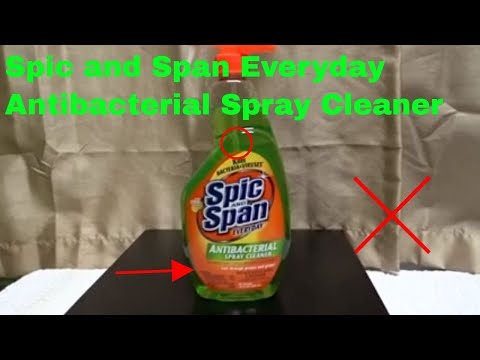 ✅  How To Use Spic and Span Everyday Antibacterial Spray Cleaner Review