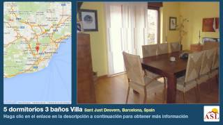 preview picture of video '5 dormitorios 3 baños Villa se Vende en Sant Just Desvern, Barcelona, Spain'