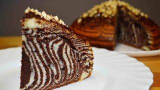 """ПИРОГ """"ЗЕБРА"""" или Как Приготовить Пирог (Кекс) Зебра! Cake Zebra"""