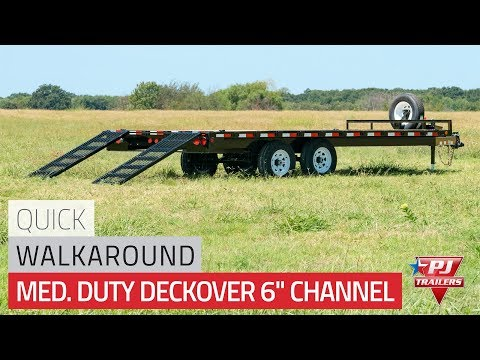 2021 PJ Trailers Medium Duty Deckover 6 in. Channel (L6) 24 ft. in Kansas City, Kansas - Video 1