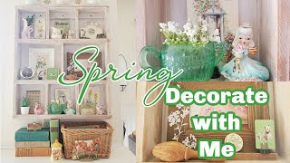 Spring Decorate With Me 2021 | Spring Decor Idea's | Cottage Farmhouse Spring Decorating Idea's