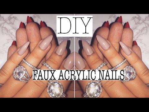 DIY: MY FAUX ACRYLIC MANICURE