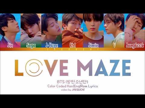 Bts ��������������� Love Maze Color Coded Lyrics Engromhan