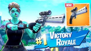 *NEW* SCOPED REVOLVER Gameplay in Fortnite!