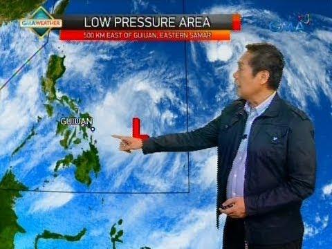 [GMA]  Low Pressure Area sa Silangan ng Eastern Samar, posibleng maging bagyo at mag-landfall sa Luzon