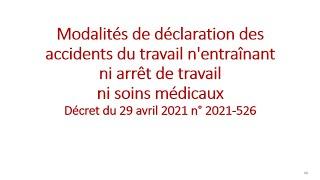 Replay Réunion actualité mai 2021 – Le registre des accidents bénins