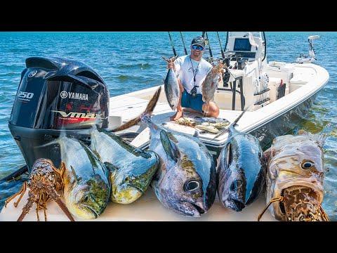Epic Islamorada Fishing Frenzy! - Lobster, Mahi Mahi, Tuna, Grouper [Catch Clean Cook]