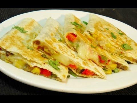 Video Vegetable Quesadilla - Easy Mexican Recipe