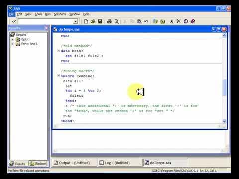 SAS macros do loops tutorial