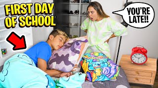 Our Son Almost MISSED the FIRST DAY OF SCHOOL! 😱