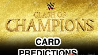 2019 Clash of Champions Card Predictions