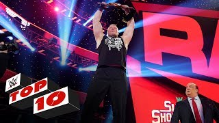 WWE Top 10 takes you back to this week's Monday Night Raw to revisit the show's most thrilling, physical and controversial moments. Catch WWE action on WWE Network, FOX, USA Network, Sony India and more. GET YOUR 1st MONTH of WWE NETWORK for FREE: http://wwe.yt/wwenetwork