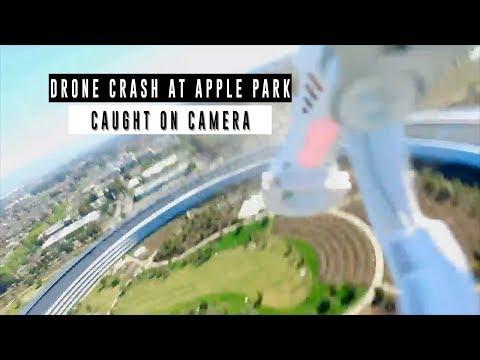DRONE CRASH at APPLE PARK Caught on Camera