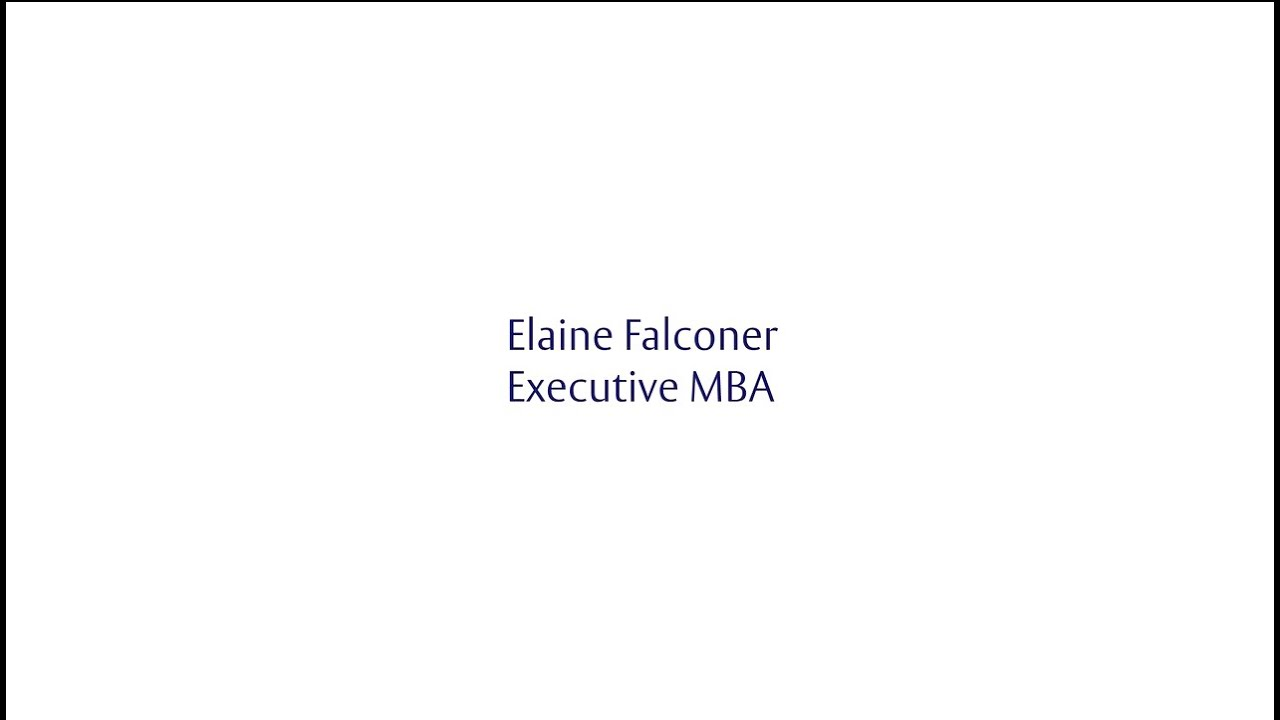 Henley Challenge 2015 - Elaine Falconer, Executive MBA