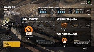 Season 10 Week 4 Solo Challenge 1 - Ghost Recon Wildlands No Commentary