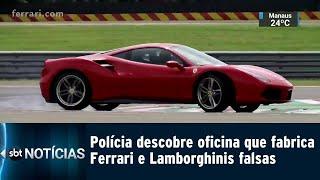 Polícia descobre oficina que fabrica Ferrari e Lamborghinis falsas   SBT Notícias (15/02/2019)