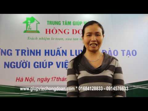 Người giúp việc tin tưởng trung tâm giúp việc Hồng Doan