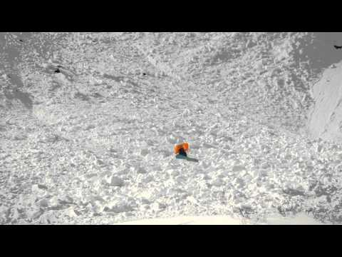 Watch This Snowboarder Survive An Avalanche By Floating On An Airbag