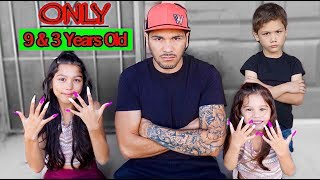 The Youngest Sisters To Get Acrylic Nails | Familia Diamond