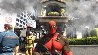DEADPOOL SETS MICHAEL'S HOUSE ON FIRE! (GTA 5 Funny Moments)