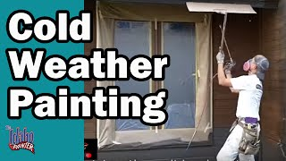 Cold Weather Painting Tips.  How to paint when it Freezing outside.