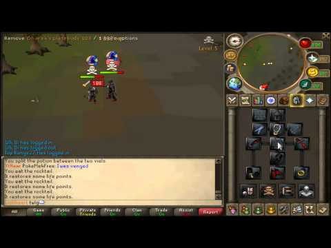Runescape Twlg Pk Vid 2 - P2P High risk-dharoking