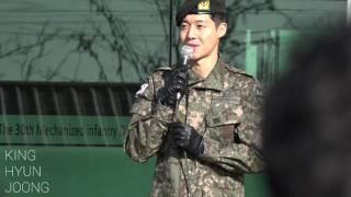 SS501, 2017.02.11. 김현중 전역 KIMHYUNJOONG fancam - 오랜만이죠