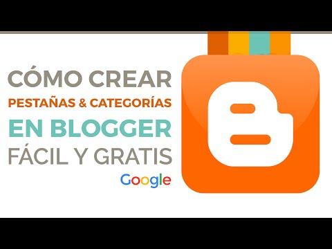 Pestañas, menu de inicio y categorías en Blogger paso a paso