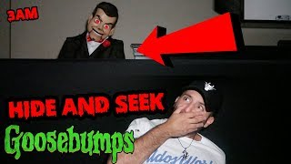 (SLAPPY ISNT HAPPY!) DONT CALL SLAPPY A DUMMY AT 3AM | HIDE AND SEEK WITH SLAPPY THE DUMMY AT 3AM