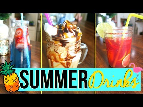 Video SUMMER DRINK IDEAS 2017 | EASY + KID FRIENDLY SUMMER DRINK RECIPES! | Page Danielle