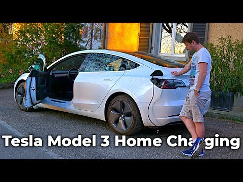 Charging Tesla Model 3 at normal wall socket Home l Is this Possible ?