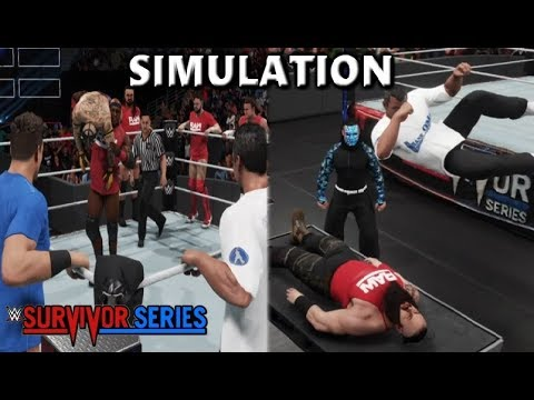 WWE 2K19 SIMULATION: TEAM RAW VS TEAM SMACKDOWN | SURVIVOR SERIES 2018 HIGHLIGHTS